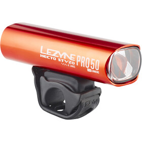 Lezyne Hecto Drive Pro 50 Front Lighting StVZO Y11, glossy red/white